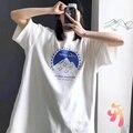 Oversize ADER FEHLER T-shirt frauen der männer T-shirt Flim Unternehmen Schnee Berg Kurze Kurzarm Hohe Qualität Adererror Casual top