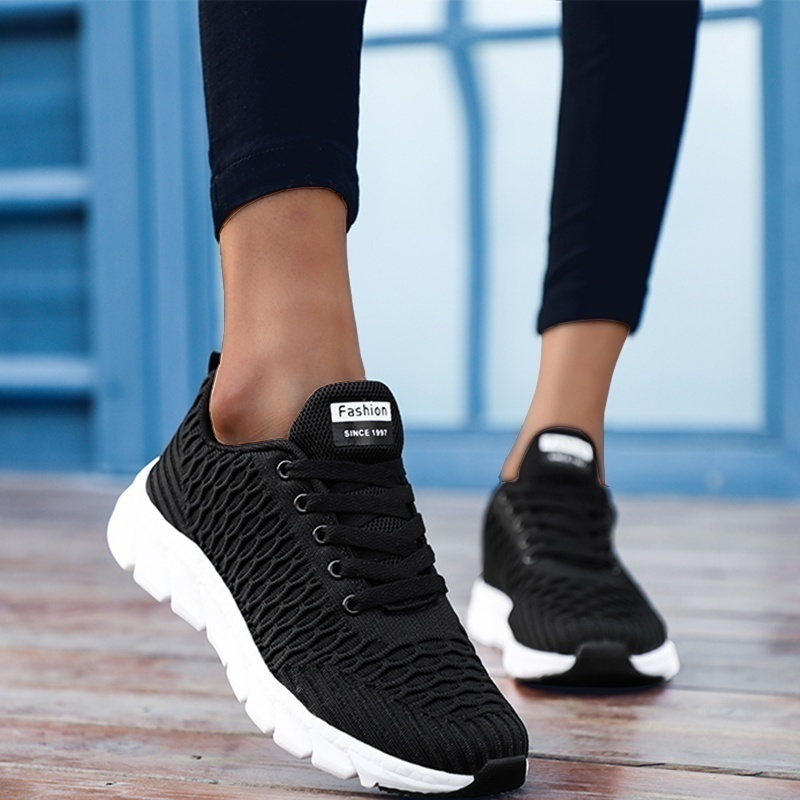 2019 Mesh Women Sneakers Breathable Women Flat Shoes Lightweight Casual Shoes Ladies Lace-up Deportivas Mujer Chaussures Femme 4