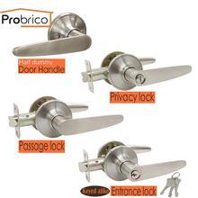 Прочные Дверные ручки Probrico для межкомнатной двери, Передняя Задняя деревянная дверная ручка, цилиндр замка/защелка межкомнатных дверных ручек, замок, фурнитура