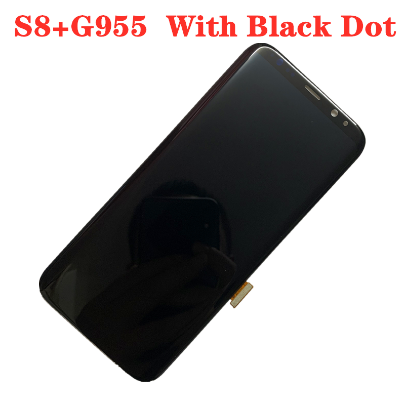 With Black Dot ORIGINAL AMOLED Display LCD  For SAMSUNG S8+ PLUS LCD G955U G955D G955F Touch Screen Digitizer Assembly