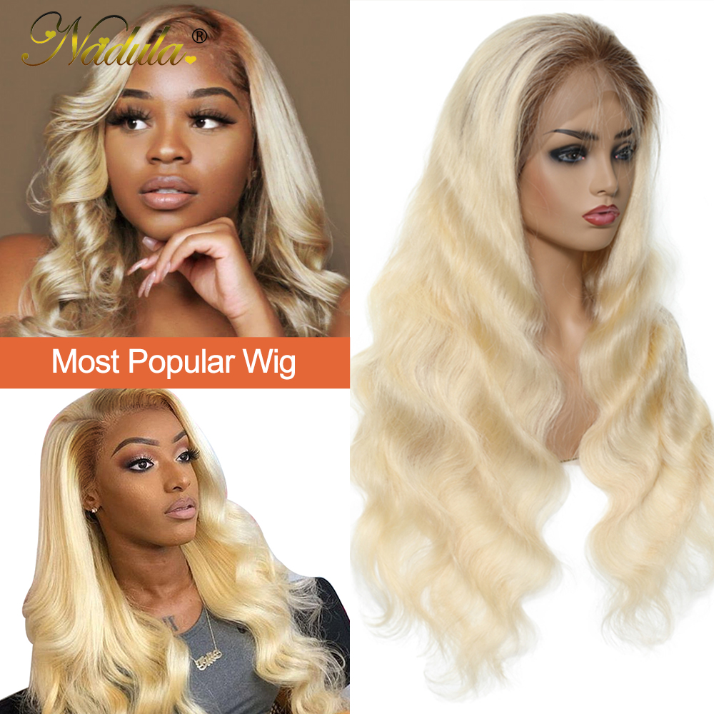 Nadula  Wigs 150% Density Ombre Blonde Pre-Plucked Lace Front Wig 13x4/13x6 /360 Lace Frontal Wig T4/613 Color 4