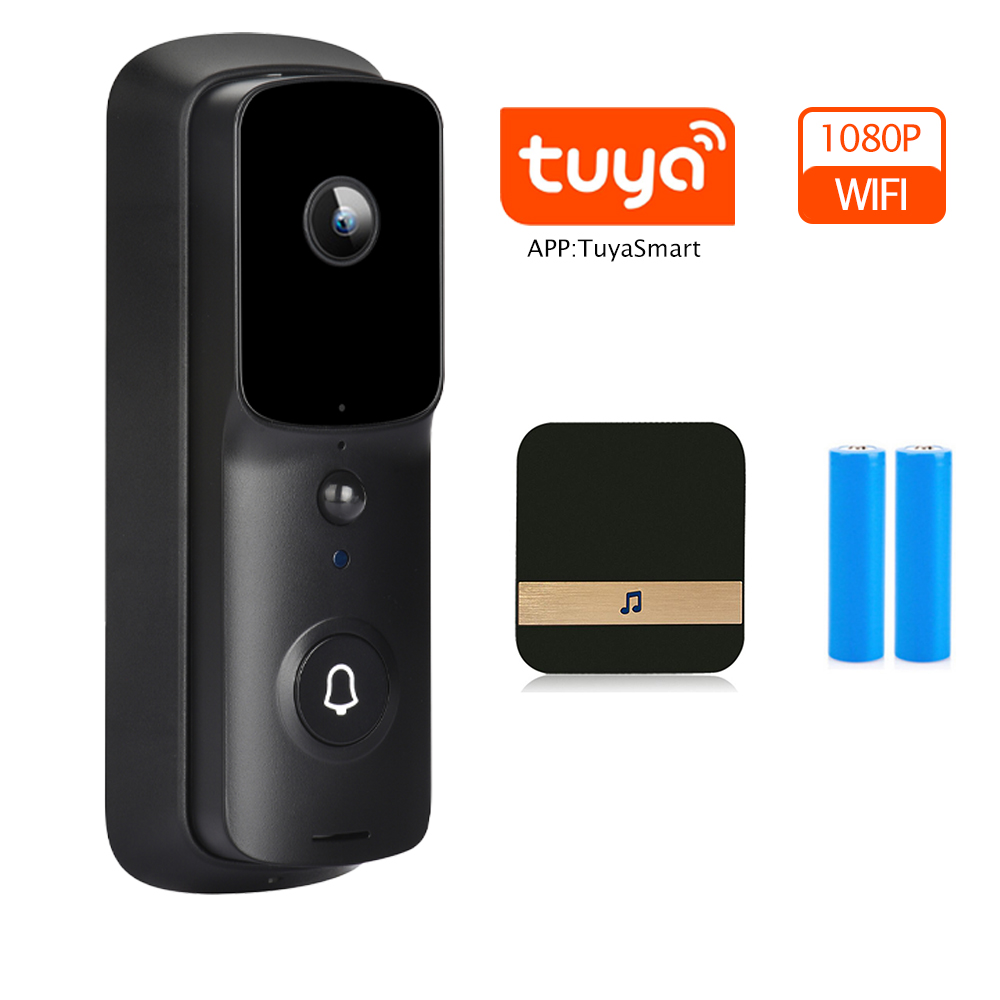 Tuya Option WiFi Doorbell Camera Security Door Bell Camera Outdoor 1080P Video Door Bell Smart Wireless Doorbell Night Vision|Doorbell|   - AliExpress