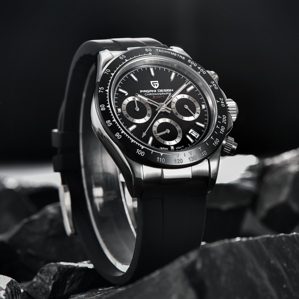 2020 New PAGANI DESIGN Mens Quartz Watches Automatic Date Luxury Gold Wristwatch Men Waterproof Chronograph Japan seiko VK63 Clock man dropshipping (13)