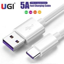 Кабель UGI 5A для быстрой зарядки, USB C кабель для Huawei P30, P40 Pro, Samsung S10, S9, Xiaomi OnePlus, Google Pixel