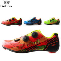 TIEBAO Cycling Shoes sapatilha ciclismo off Road Bike Carbon Fiber Riding Bicycle scarpe ciclismo strada Bike men sneakers