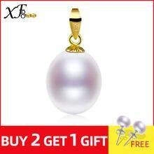 XF800 18K altın inci kolye kolye beyaz inci takı doğal tatlısu AU750 düğün parti hediye kadınlar için kız [d221-1]
