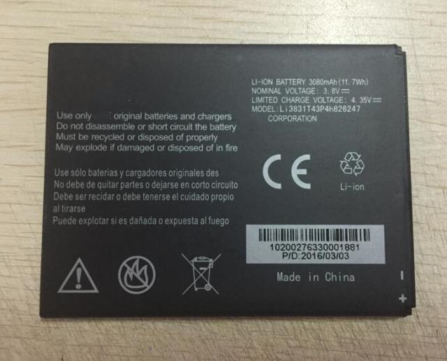 LI3831T42P4H826247 3830mAh cell phone battery for ZTE Grand X 3 Z959 Cricket mobile phone battery with phone stander for gift image