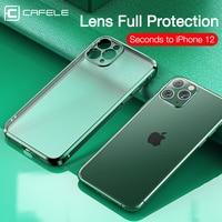 Cafele-funda completa de silicona suave para iPhone, carcasa trasera transparente de lujo para iPhone 12, 11 Pro Max, 11, 12 Mini