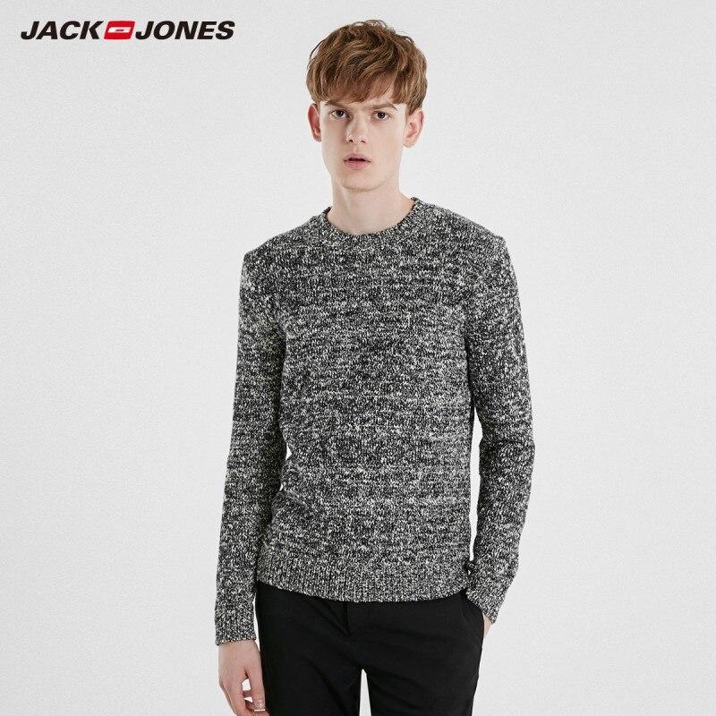 JackJones Men's Casual Colour Long-sleeved Knitwear Sweater 219125509