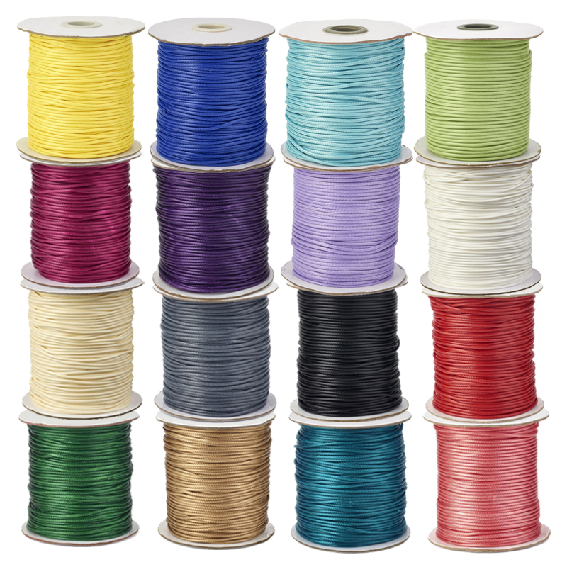 ARRICRAFT 1 Bundle 380m//bundle Waxed Cotton Cord Thread 1mm White Bead Cord for Jewelry Making Beading Crafting