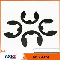 10/50/100 M1.2 M1.5 M2 M3 M3.5 M4 M5 M6 M7 M8 M10 - M24 siyah 65mn çelik E klip segman İstinat halkası yıkayıcı mili raptiye