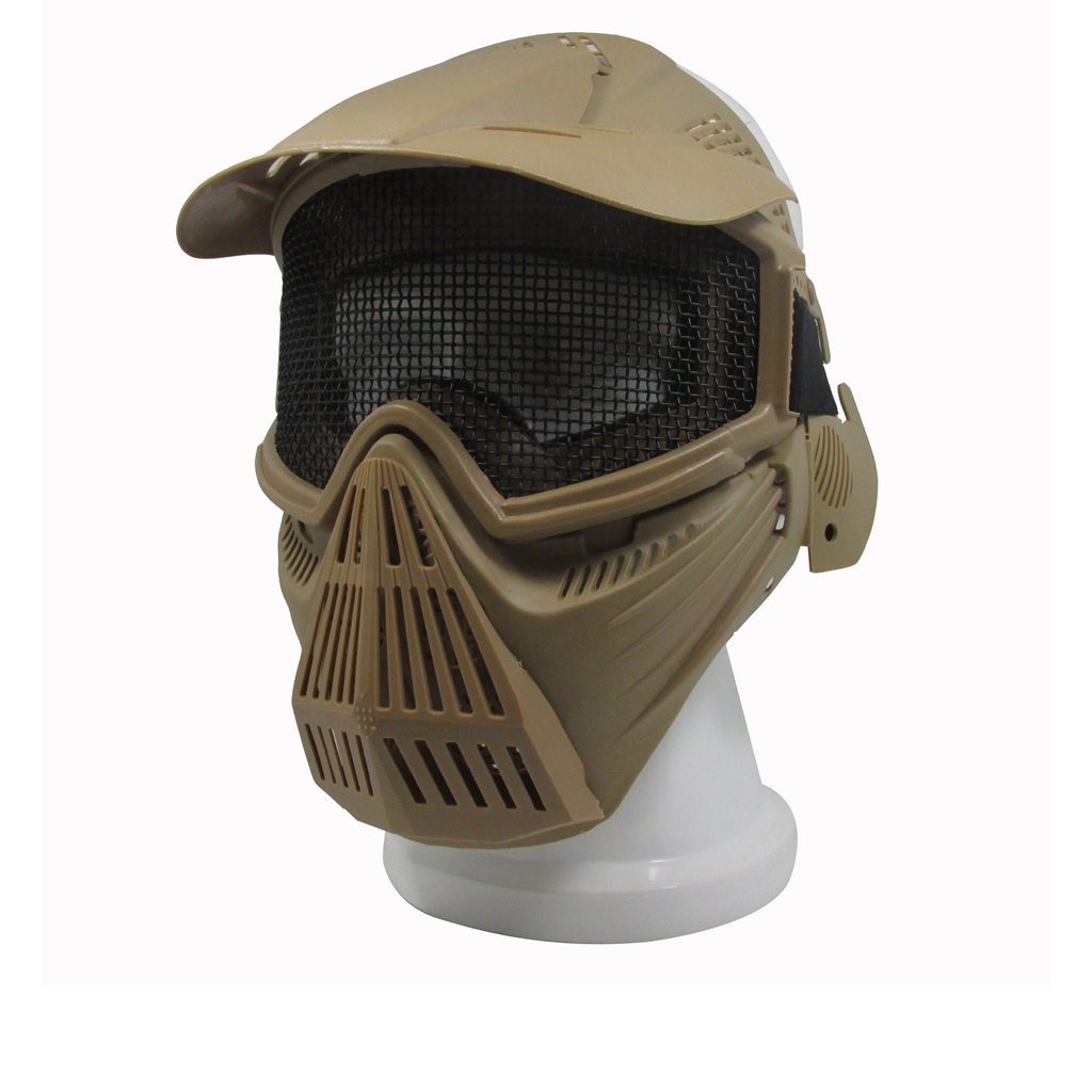 Outdoor Full Face Metal Mesh Protection Mask Paintball CS Game Adjustable Shootign Sport Protect Mask Goggle