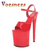 Voesenees marka kobiety obcasy seksowna sukienka sandały 2021 platforma sznurowane paski wysokie obcasy 15 17 20 CM buty damskie Party Pole Dance