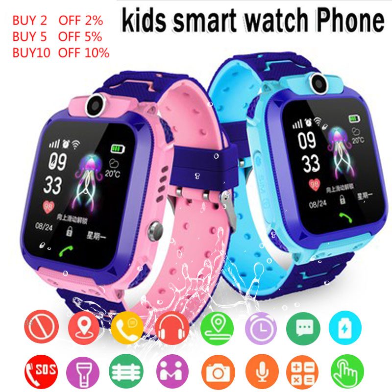 Q12 kids Smart Watch kids SOS Phone Watch Smartwatch For Kids With Sim Card Photo Waterproof IP67 Kids Gift For IOS Android