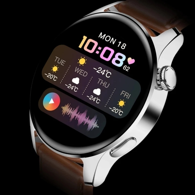 2021 New For HUAWEI Smart Watch Men Waterproof Sport Fitness Tracker Weather Display Bluetooth Call Smartwatch For Android IOS 1