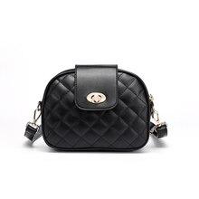 Brand Ladies Messenger Bag High Quality PU Leather Plaid Chain Fashion bolso niña