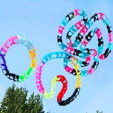 Высокое качество кайт круги отверстия кулон воздушный змей мягкий воздушный змей открытый игрушки большой воздушный змей завод осьминог змей катушка 3d ястреб