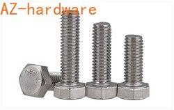 304 Stainless Steel External Hexagon Screw Lengthens Full Teeth External Hexagon Bolt/Screw DIN933 M10-M16 2Pcs