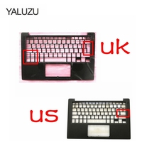 YALUZU new For DELL XPS13 9350 9360 Palmrest Top upper case Keyboard bezel Housing 43WXK 043WXK NXHVX PHF36 US UK version black