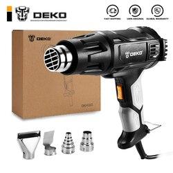 DEKO 220V Heat Gun 2000W Temperatura Variável Avançada Elétrica Pistola de Ar Quente com Quatro Bicos Acessórios da Ferramenta de Poder