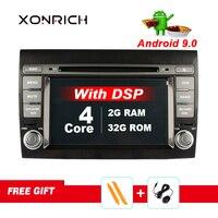 Xonrich 2 Din Auto Radio Android 9 For Fiat/Bravo 2007 2012 Car GPS Stereo Multimedia Player Bluetooth DSP DVR TV 4GB