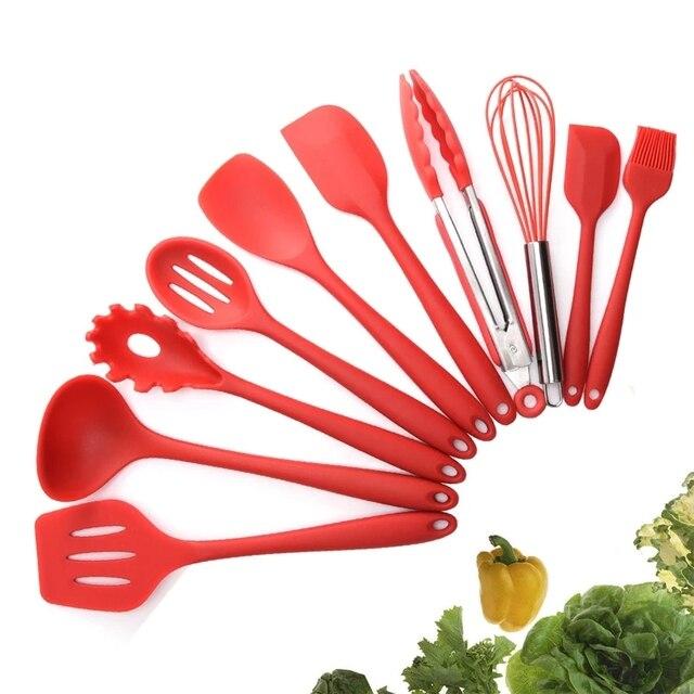 Juego de cocina de silicona antiadherente resistente al calor, utensilios de cocina, accesorios de cocina, 5/10/11 Uds.