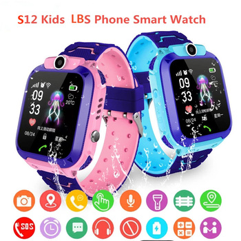 S12 Children's Smart Watch Multifunction Kids Watch LBS Tracker SOS Call SmartWatch Anti Lost Monitor Baby Wristwatch VS Q12 smart universal gps lbs tracker locator finder sos call watch for elder parents heart rate monitor alarm anti lost wristwatch