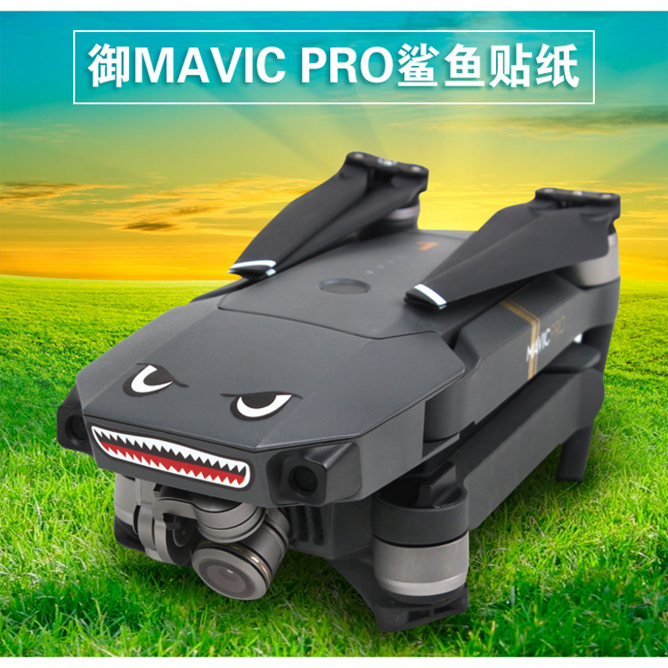 Dji Yulai Mavic Pro/Air/YULAI 2/Xiao Unmanned Aerial Vehicle Shark Expression Body Stickers 3M Phone Sticker