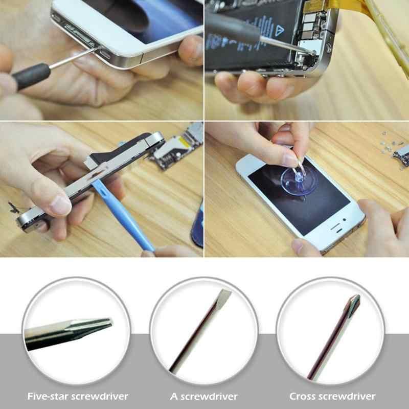المهنية 11 في 1 هواتف محمولة افتتاح حدق إصلاح عدة أدوات الهاتف الذكي مفك أداة مجموعة للآيفون سامسونج HTC موتو سوني