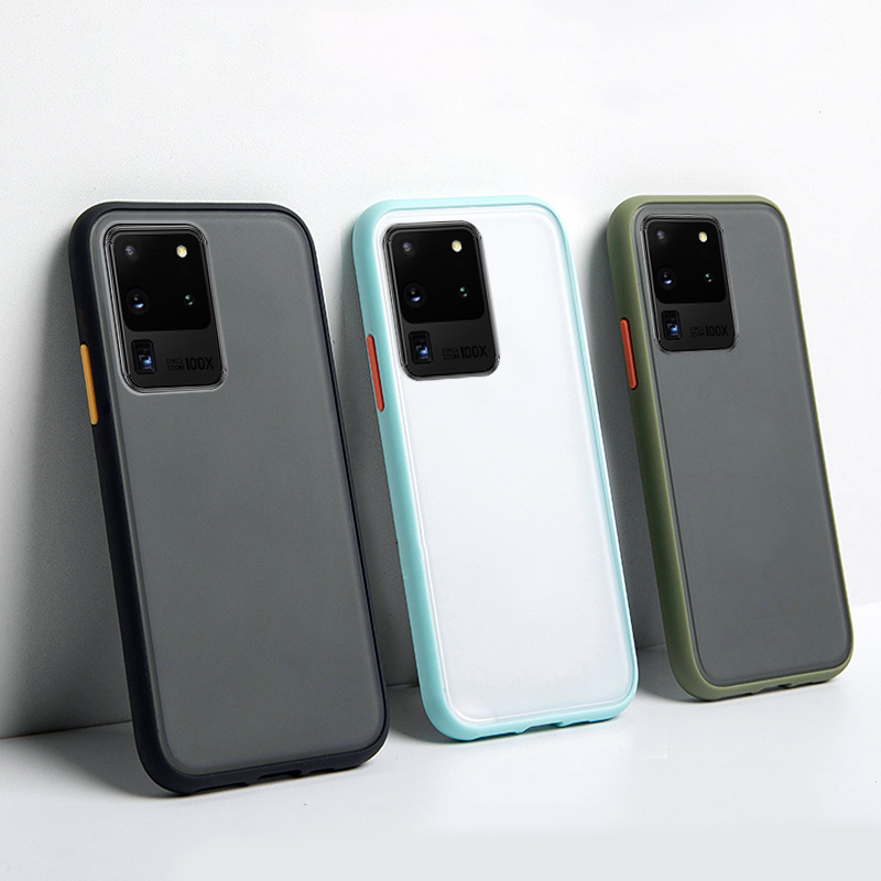 Anti Shock Case For Samsung S10 S9 S8 S20 Plus Ultra S10E Cover Matte Shockproof Case For Samsung Galaxy Note 10 Plus 9 8 Funda