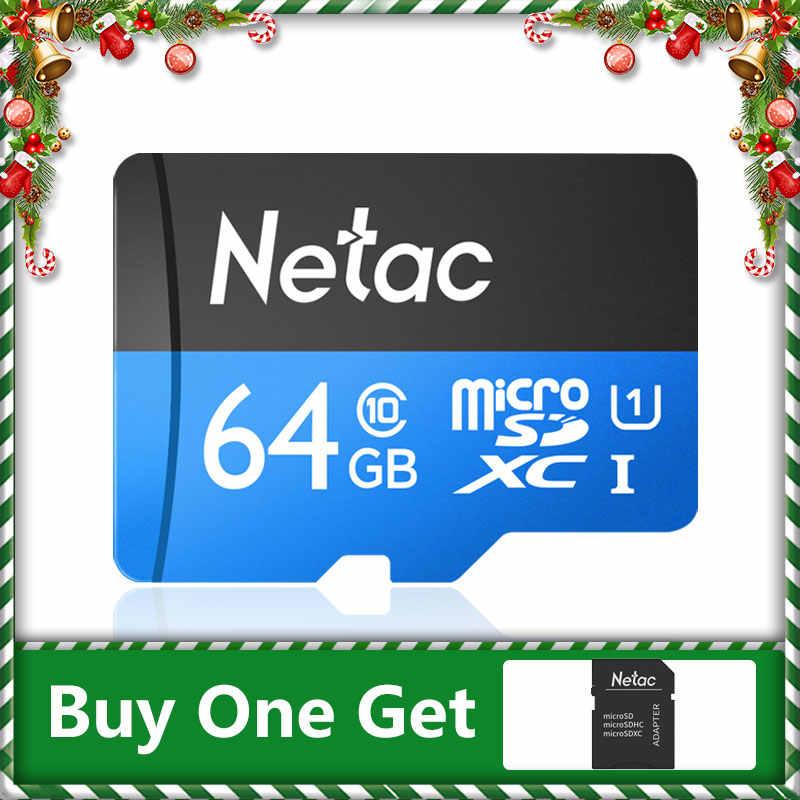 Netac micro cartão sd 64 gb 128 gb 256 gb uhs 1 cartão de memória 64 128 256 gb 4 k vídeo u3 v30 flash sdcard smartphone cartão tf para monitor