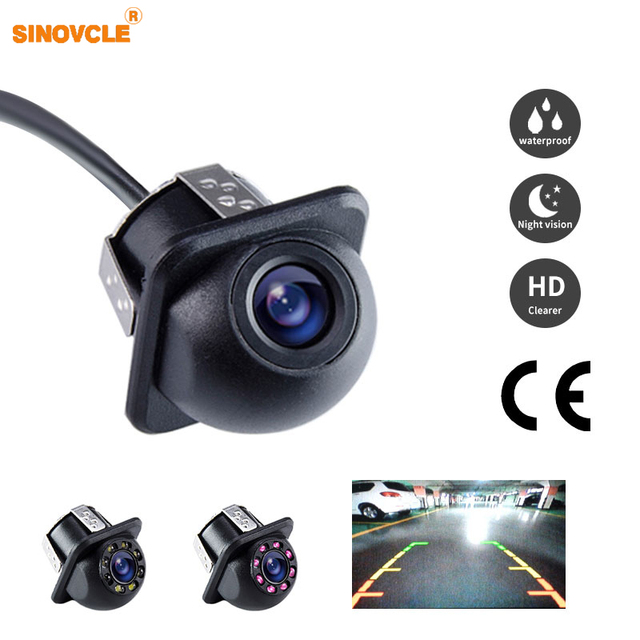 SINOVCLE Reverse Camera Rearview Car Infrared Night Vision With or Without LED Mini Waterproof HD Auto