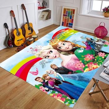 Cartoo Princess Play Mat Kids Developing Mat Anna Elsa Kids Rug Gym Games Play Baby Carpets Rug Soft Floor Mat Baby Playmat Gift