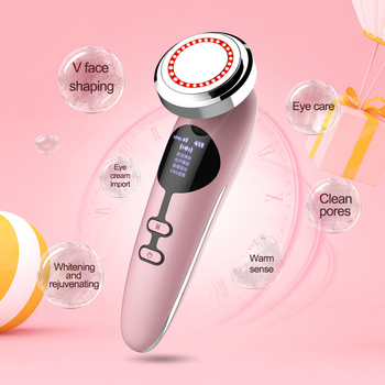 RF Mesotherapy Electroporation Face Beauty Pen EMS Hot & Cold Photon Beauty Instrument Facial Massager Skin beauty Care Tools beauty star ems v face massager body slimming beauty instrument microcurrent mesotherapy electroporation wrinkle remover salon