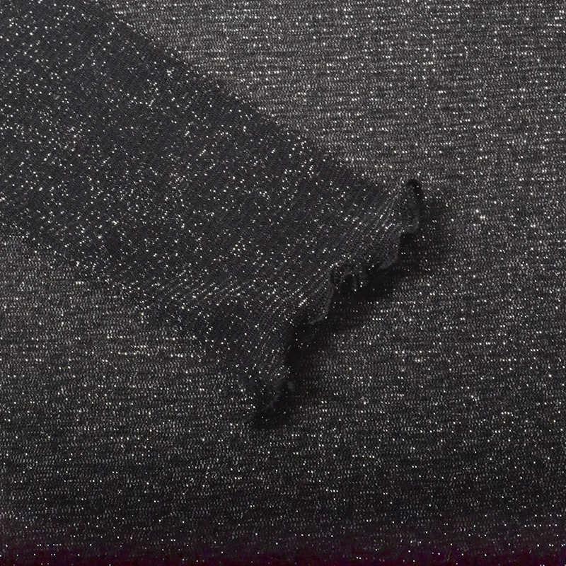 Новинка 2019 года; рубашка с длинными рукавами из сетчатой ткани с оборками; осенне-зимняя женская одежда