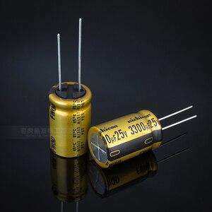Image 1 - 10pcs NIEUWE NICHICON FW 3300UF 25V 16X25MM audio 3300 uF/25 V Elektrolytische condensator 25V3300uF filter versterker 25V 3300UF