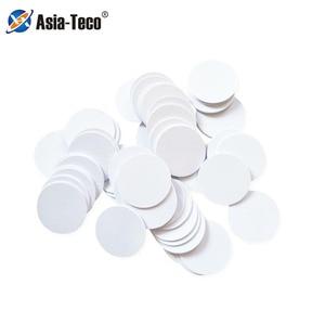 100/50pcs NFC Ntag215 Coin TAG Key 13.56MHz NTAG 215 Universal Label RFID Ultralight Tags Labels 25 mm diameter(China)