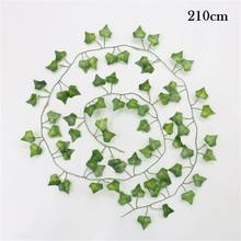 1 sztuk sztuczne sztuczne sztuczne do zawieszenia dekoracji winorośli Rattan rośliny liściaste Home Decor sztuczne kwiaty sztuczne rośliny fałszywe tanie tanio Wiszące Z tworzywa sztucznego