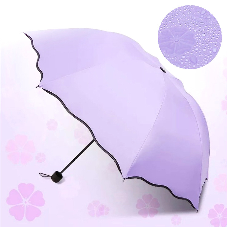 Water Open Umbrella Color Changing Vinyl Folding Sun-resistant Advertising Umbrella Sun Parasol All-Weather Umbrella On Behalf O