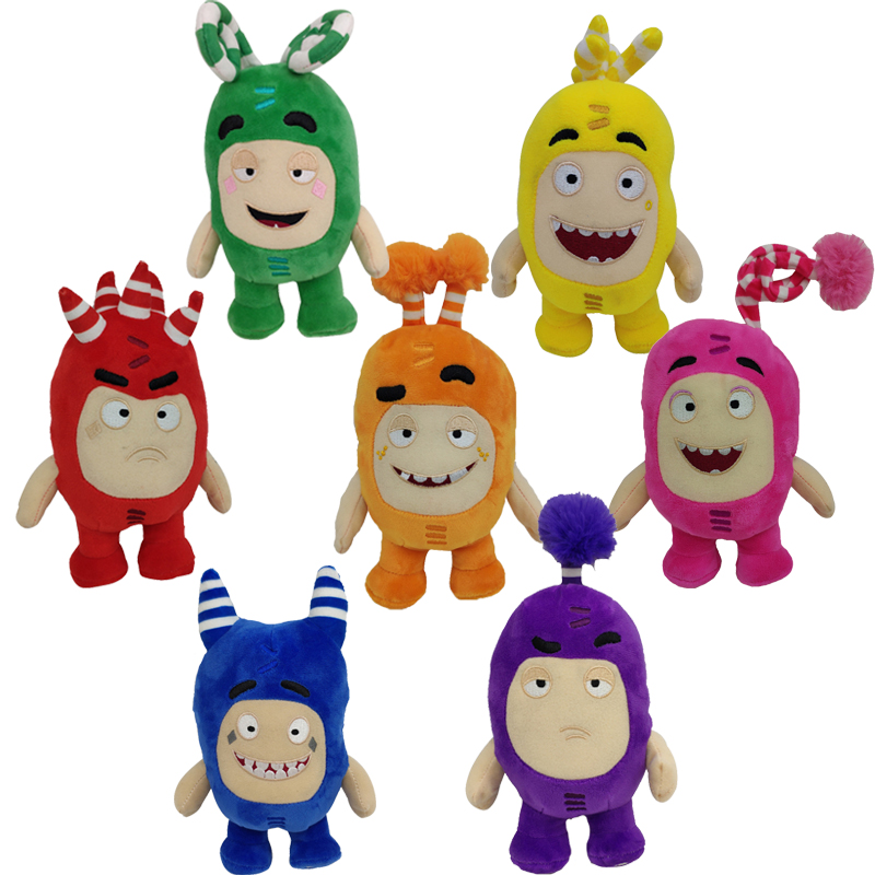 7pcs/lot 18cm Cute Cartoon Odd Pogo Anime Plush Toy Anime Treasure Of Soldiers Monster Soft Stuffed Toy Dolls For Kids Gift