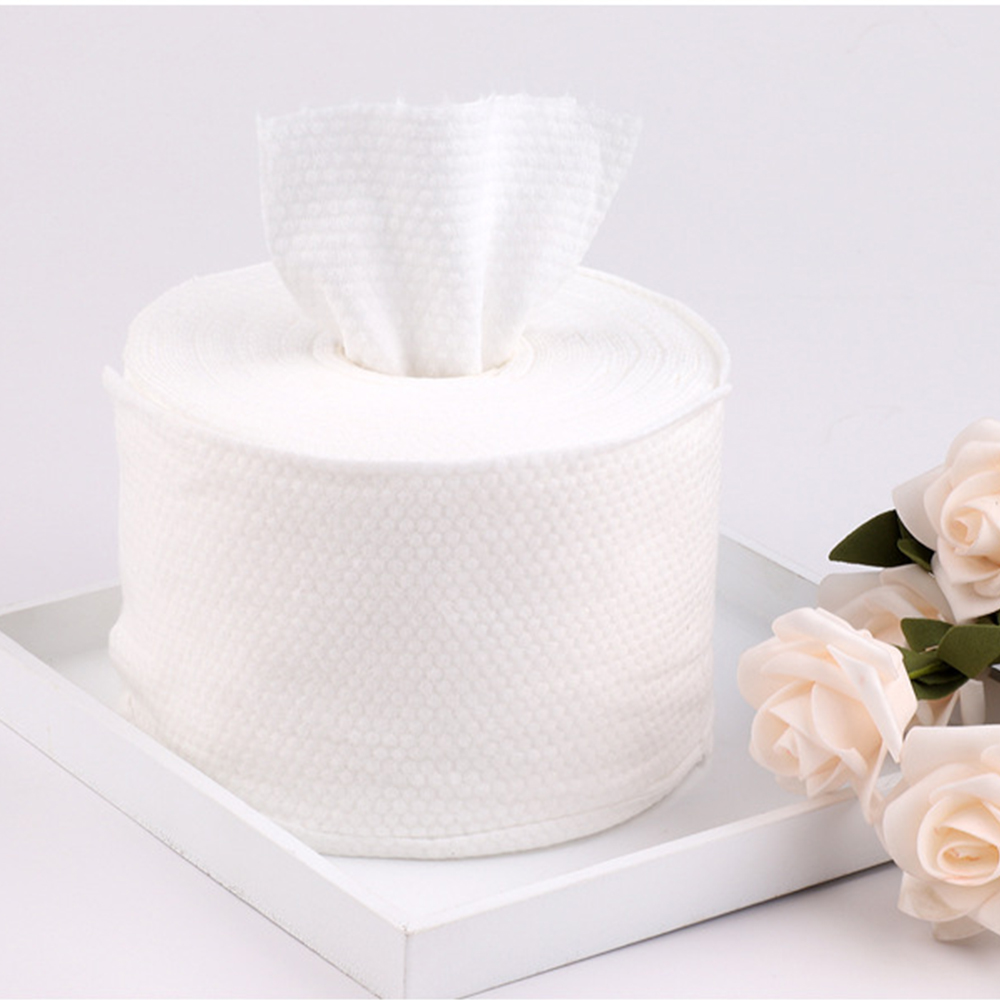 1 Roll Disposable Face Towel Non-Woven Facial Tissue One-Time Makeup Wipes Cotton Pads Facial Cleansing Roll Paper Tissue