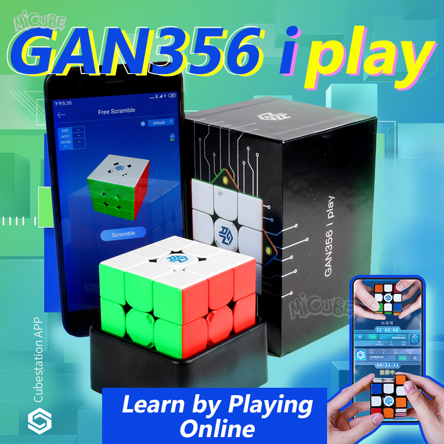 GAN356 I Play Magnetic Magic Speed Cube Station App Online Competition GAN 356 I Play Magnets Puzzle Cubes GAN356i Play 3x3 GANS