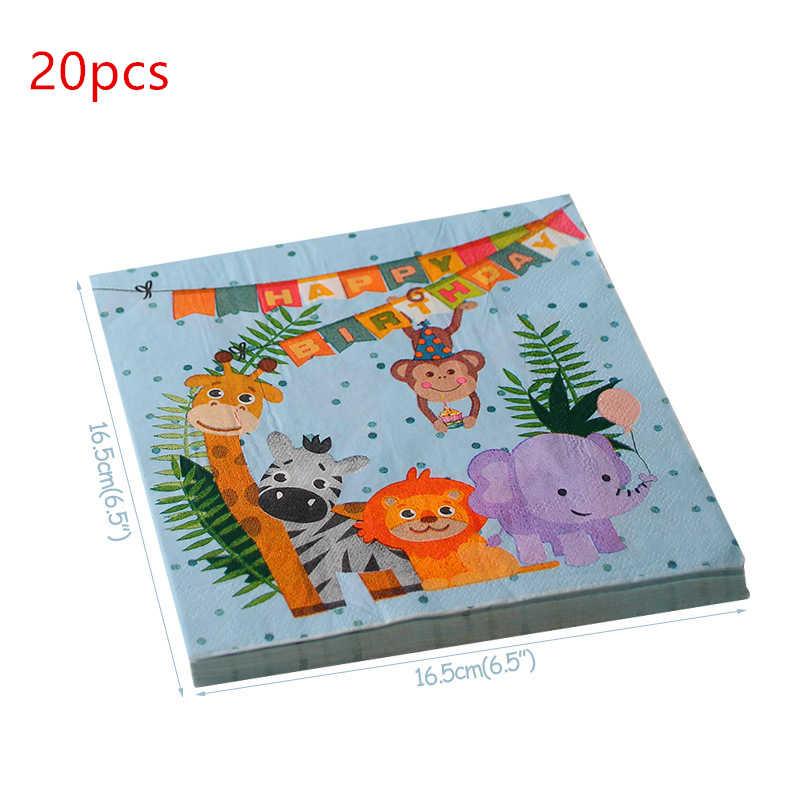 6 uds. Animal de la selva sombrero fiesta cumpleaños divertido gorros con forma de pastel atrezo para fotografía de fiesta niños fiesta Cabello-vestido Decoración