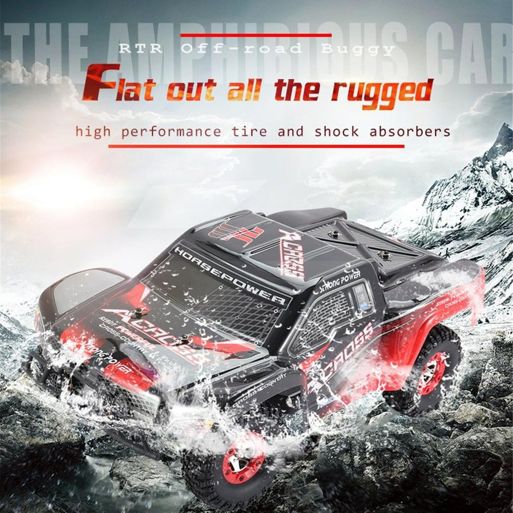 Must-have Wltoys Buggy Vehicle12423 1/12 2.4G 4WD High speed Electric Brushed Short Course Off-Road RTR RC Car with LED Light