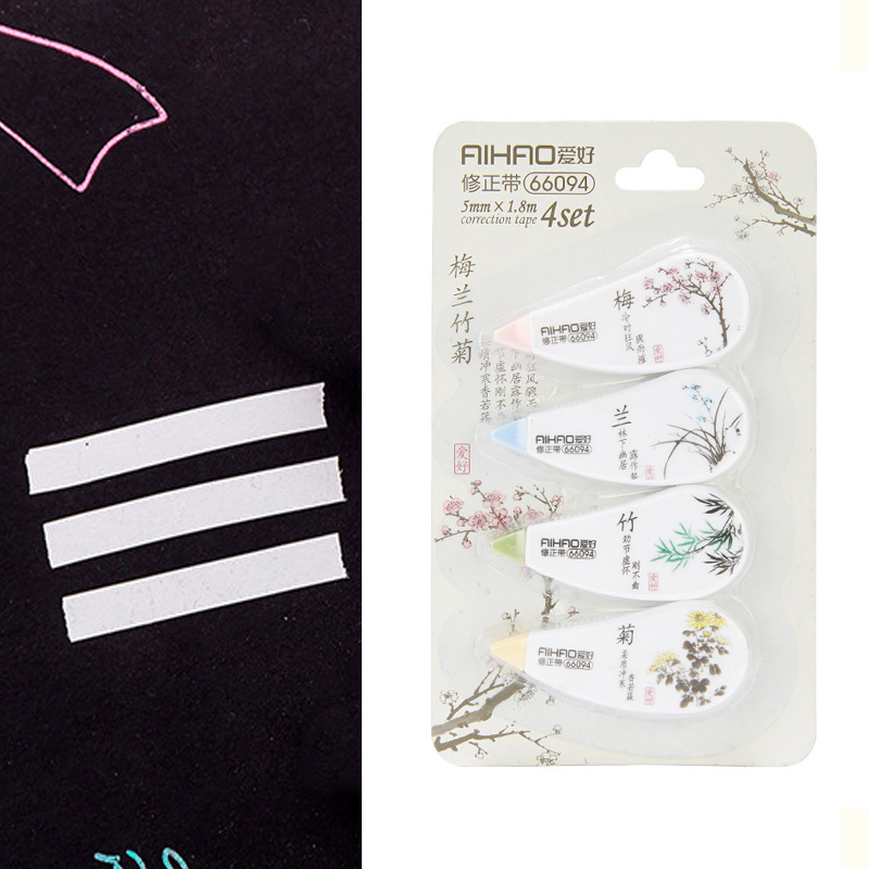 4 Pcs/set Novelty Flowers Correction Correcting Tape Kawaii Stationery Corrector Papeleria Student Gift Office School Supplies