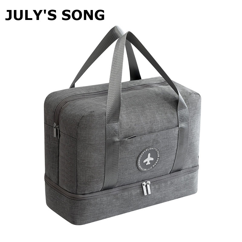 JULY'S SONG Portable Travel Bag Waterproof Multifunctional Dry Wet Separation Storage Bag Soft Travel Duffle Drop Shipping