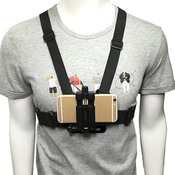 2020 nowy telefon komórkowy uchwyt na klatkę piersiową uprząż pasek uchwyt telefon komórkowy klip Action Camera regulowane paski dla Xiaomi dla Iphone tanie i dobre opinie Brak funkcji CN (pochodzenie) Uniwersalny Mobile Phone Chest Mount