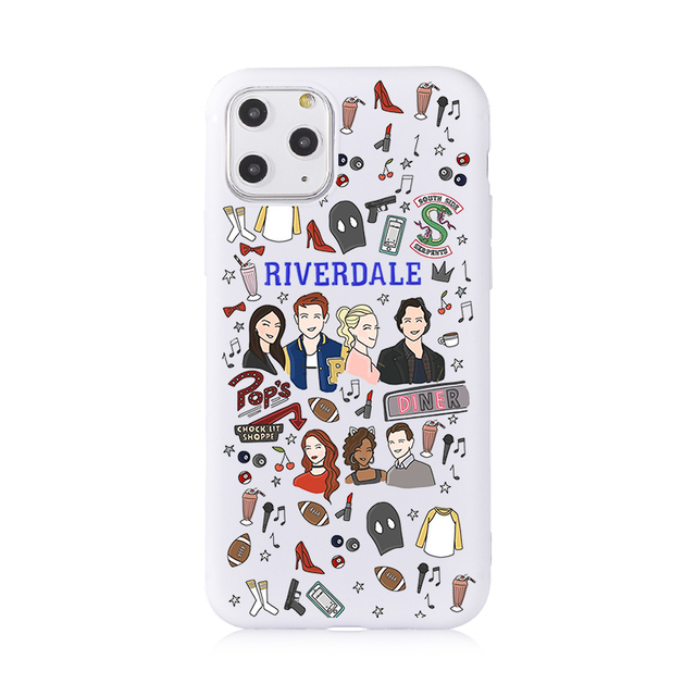 America TV Riverdale Silicone Soft Cover Phone Case For iPhone 11 case XS Max XR 8 7 6 Plus Cases iphone SE 2020 Shell Anti Fall
