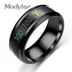 Modyle 2020 New Temperature Ring Stainless Steel Mood Emotion Feeling Intelligent Temperature Sensitive Rings for Women Men
