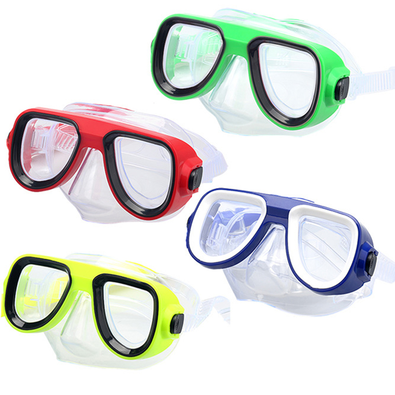 Anti-Fog Goggle Mask Professional Scuba Diving Mask And Snorkels Goggles Glasses Diving Swimming Easy Breath Tube Set Kids Child
